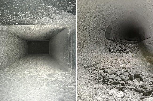 znečištěná ventilace